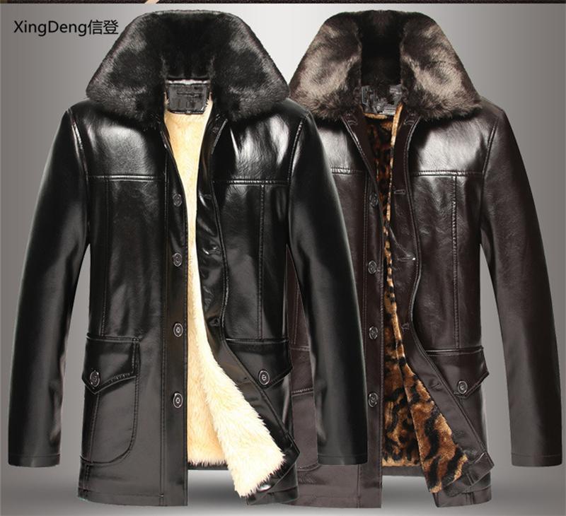 Xingdeng in pelle di marca con cerniera impermeabile con cerniera allentata casual giacche business maschio maschio cabi mendressy top supercoat vestiti plus 4xlx1121