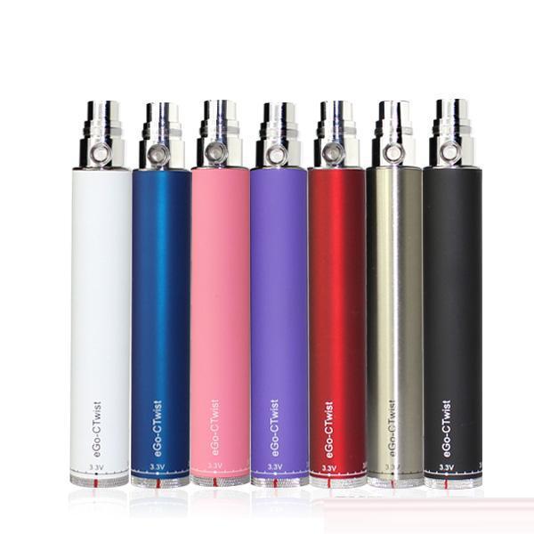 510 Thread Ego C Twist Vape Pen Bateria vs Evod Twist Battery Pen 650mAh 900mAh 1100mAh