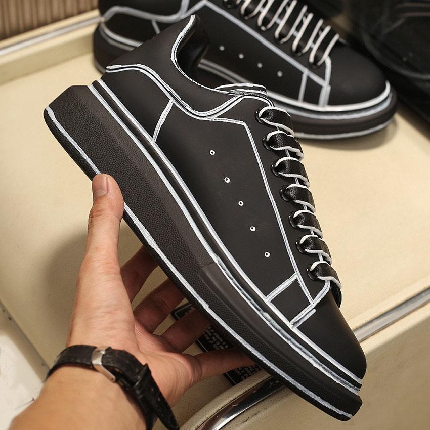 2021 Mens Platform Shoes Womens Alzata Piano Snakeskin Pattern Scorsa Top Leather Ladies Moda Sneakers Trendy Flat Designer Scarpe casual