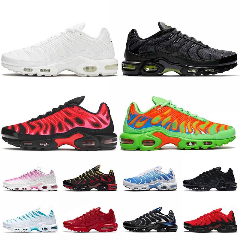 zapatos Nike Air Max Plus Tn Max Air Plus tn Plus Tamaño grande US 12 Mujer Hombre Zapatos para correr Diseñadores de Luxurys Blanco Negro Volt Red Zapatillas deportivas