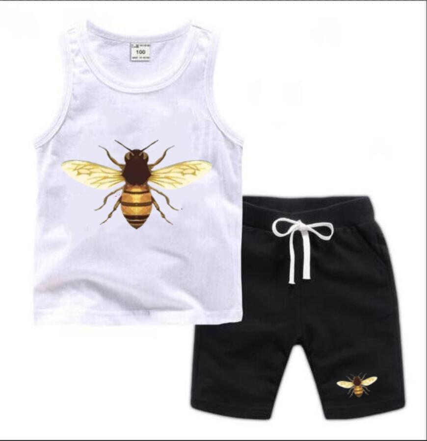 Çocuklar Giyim Setleri Yaz Bebek Giysileri Baskı Erkek Kıyafetleri için Yürüyor Moda T-shirt Şort Çocuk Suits