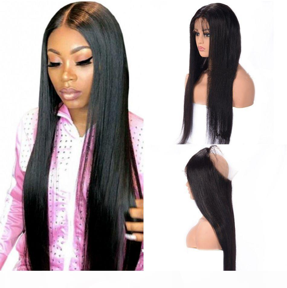 360 Spitze Frontal Straight Mongolian Menschliches Haar Freies Teil Pre-ppped Verschluss mit Babyhaar Schweizer Spitze Remy Haar 8-20 Zoll