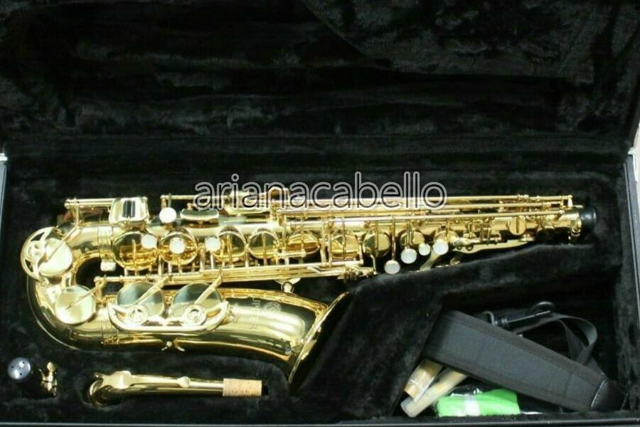 كوكب المشتري JAS500 EB Tune Alto ساكسفون النحاس e شقة آلة موسيقية عالية الجودة الذهب ورنيش سيكس مع حالة الملحقات الفلغة