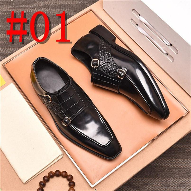 Designer Designer Scarpe formale Genuine Pelle Pelle Oxford Scarpe per uomo Italiano 2020 Scarpe da sposa Scarpe da sposa Lecci Pelle Brogue