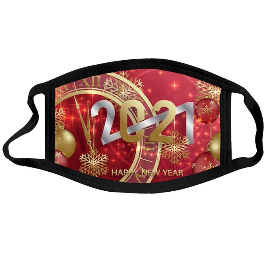 Máscara facial de Natal Feliz Ano Novo Face Máscara Fashionista 20 Estilo Smasque Christmas Face Masks Máscara de Algodão Reusável Designer CCC4209