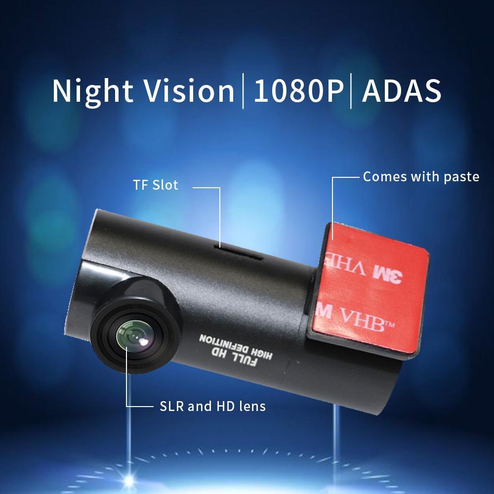 Auto DVR View Accessori per fotocamera USB da 170 gradi ADAS ADAS DVR Camera Night Vision Distance Allarme TF Scheda per Android System System Navigation