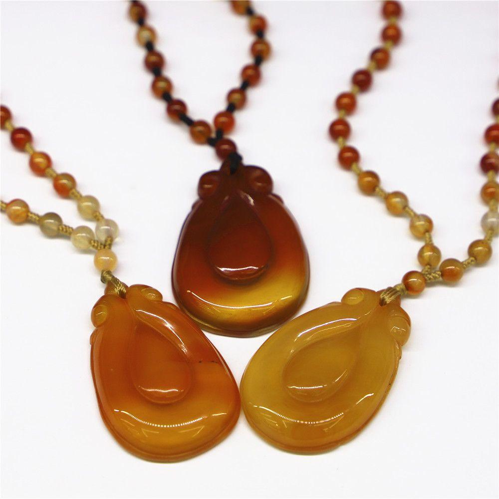 Sculpté ruyi pendentif naturel agenda bijoux ganoderma bijoux femme chariot charme cadeau pierre chakra collier Q1209