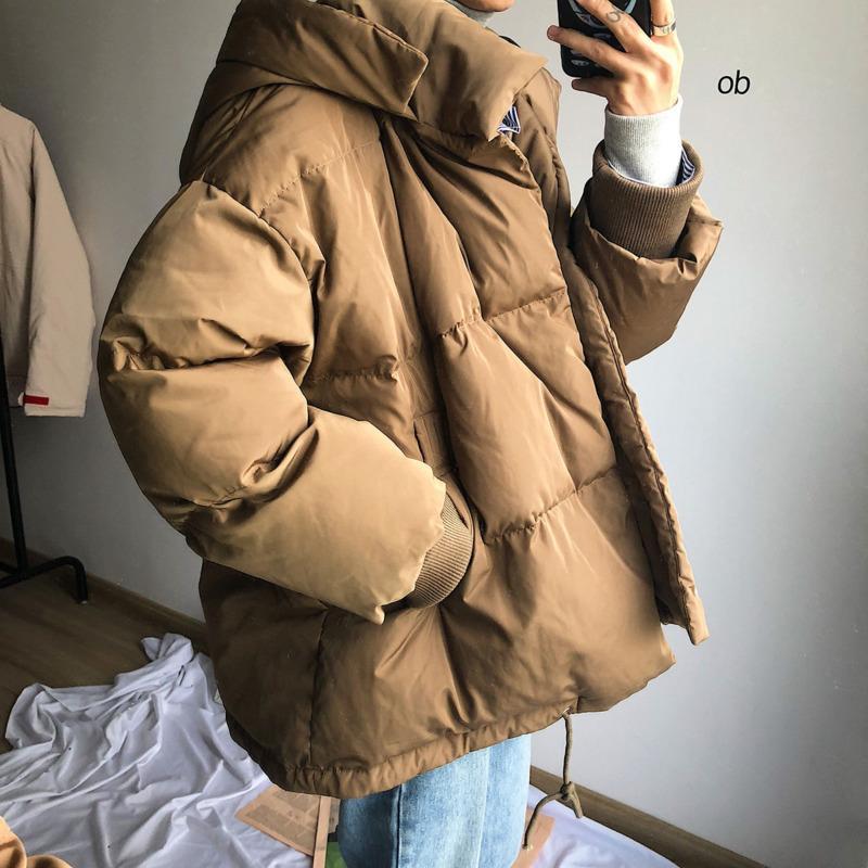 Parka de invierno Moda caliente moda casual estilo coreano con capucha con capucha con capucha hombres streetwear salvaje suelto chaqueta gruesa para hombre ropa