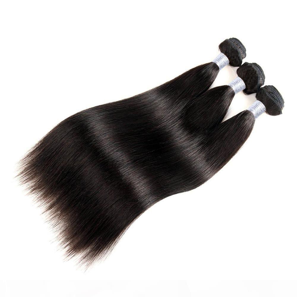 """Los paquetes de cabello humano vírgenes brasileños no procesados tejidos al cabello heterosexuales peruanos 3pcs Lot 8 """"-30"""" 1b Soft Malasian Remy Tejer Hair"""