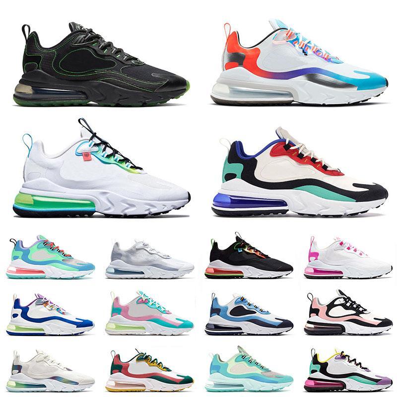 Nouvelle Arrivée 2021 Sport 270 Réagir Chaussures de course Black Green Mens Mens Femme Bon jeu Bauhaus Blue Worldwide White Bubble Pack Baskers Sneakers