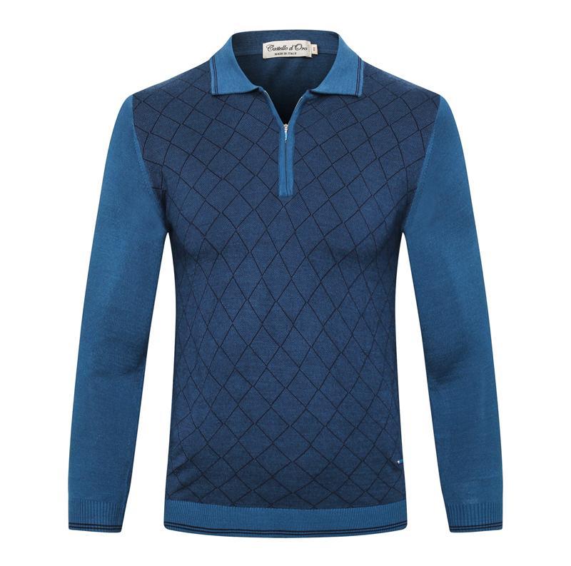 Billionaire camisola 2019 nova moda casual masculina de lã com zíper malha bordados grande tamanho M-6XL frete grátis quente de alta qualidade