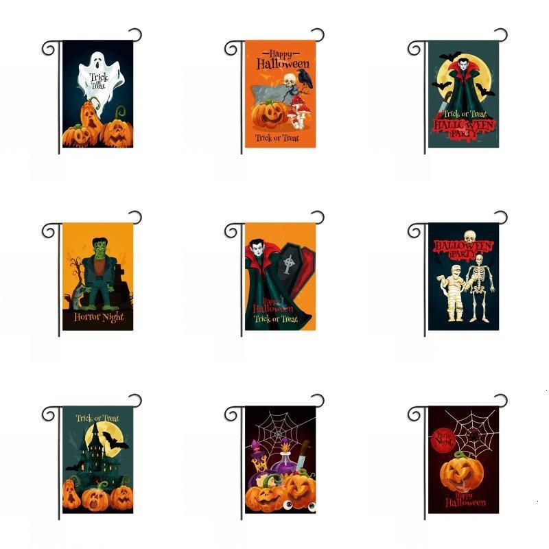 Festa Homeyard Bandeira Abóbora Abóbora Ghost Vampiro Decoração Poliéster Ponge Halloween Ao Ar Livre Celebrante Banner 30 * 45cm