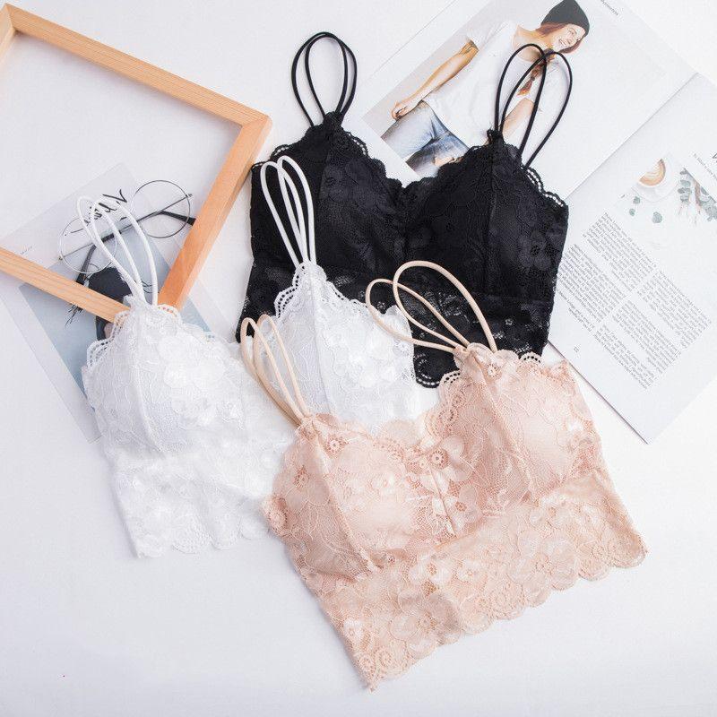 Lace Back Top Beautiful Tanque Sem Costura Empresa Menina Underwear Suspensão Vest Breathing Breathning e Absorção de Suor