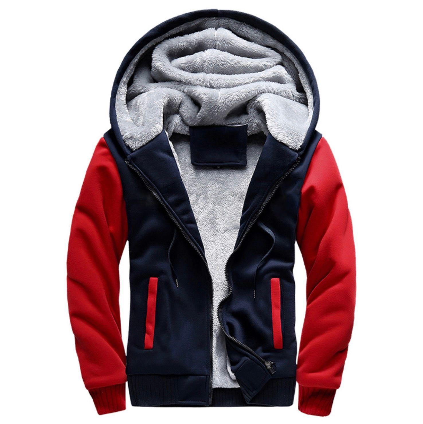 2020 Neue Männer Hoodies Winter Dicke Warme Fleece Reißverschluss Männer Hoodies Mantel Sportbekleidung Männliche Streetwear Hoodies Sweatshirts Männer