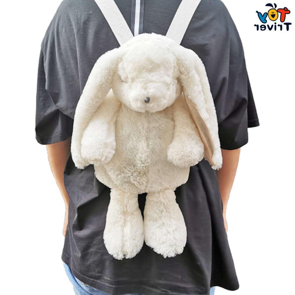 Kawaii giapponese bianco coniglio coniglietto zaino scuola borsa a tracolla peluche per bambini bambini ragazze ragazze fidanzata studente regalo di compleanno