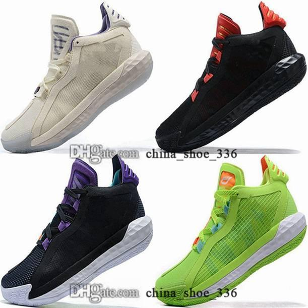 Avec boîte 12 tripline Noir Taille US Femmes Dame 6 Chaussures 46 Basketball EUR Trains Daman Chaussures Sneakers Lillard 6s 13 hommes 38 hommes 47 VI