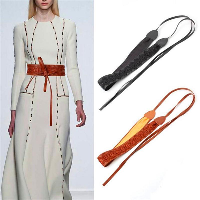 2020 Cinturones de estilo europeo y americano para las mujeres 6cm de ancho femenino de ancho cinturones de corsé de moda decoración de encaje de moda mujeres cinturones J1209