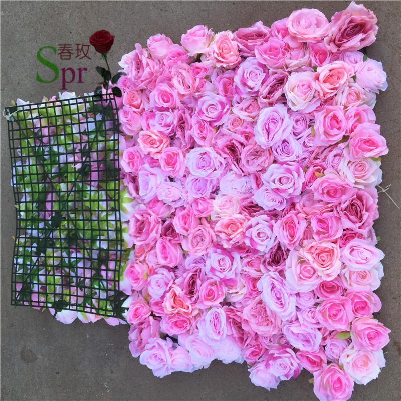 Spr 40 * 60 cm estilo artificial parede estilo rosa para festa de casamento fotográfico decoração de fundo