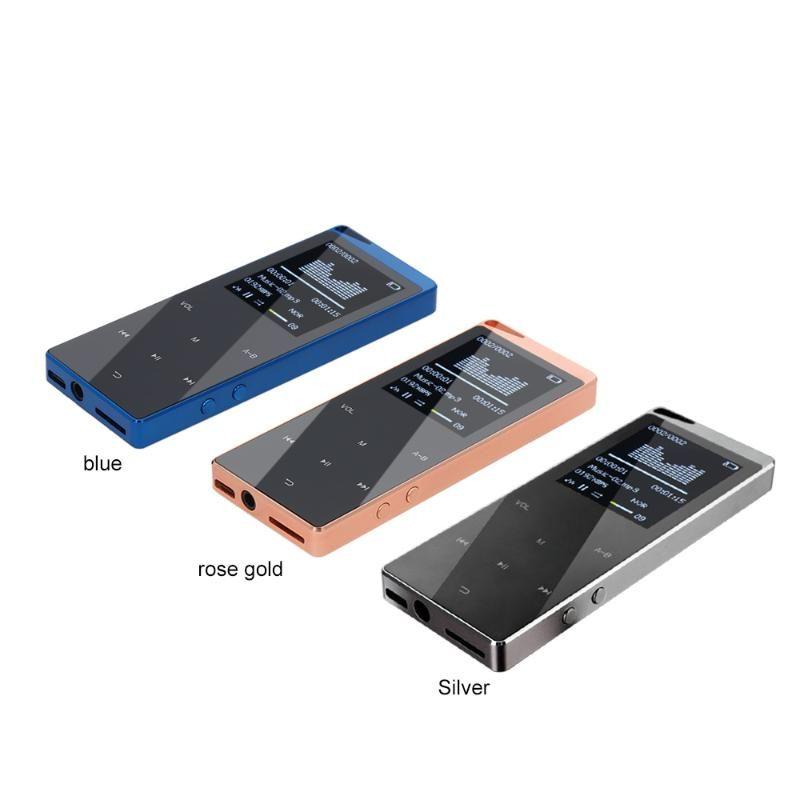 4/8 / 16GB MP3 Bluetooth портативный цифровой плеец TF карта слот с сенсорной кнопкой FM радио Bluetooth MP3 W / наушники роскошные металлические оболочки