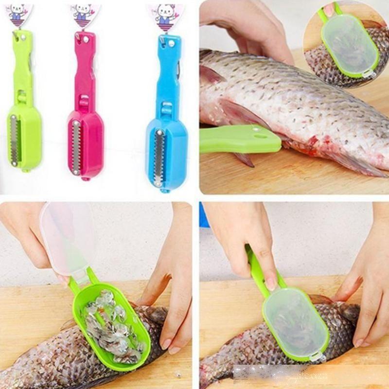 Multifunktionales Fischreinigungswerkzeug Tötung kratzender Skalen mit Gerät Home Küche Kochen Zubehör