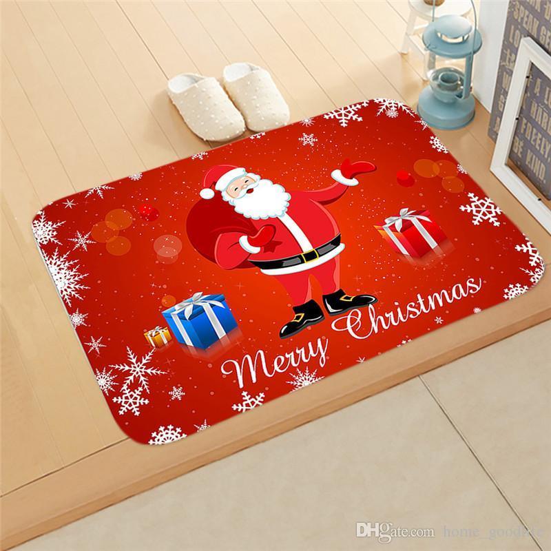 Factory Direct Sales Noël Tapis de Noël Tapis en plein air PatroPat Santa Ornement Décoration de Noël pour la maison Noël Nouvel An Cadeau 2021