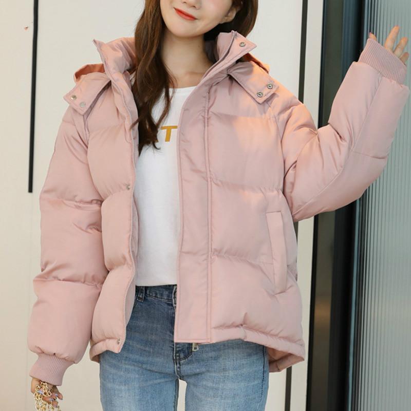 Sondr 2020 Winter Femmes Coton Vêtements Nouveau Couleur Solide Épaississement Capuche À Capuche Longue Manches Loose Manteau de mode