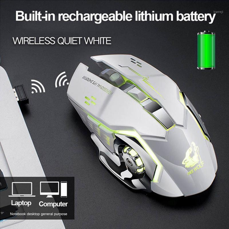 X8 Rechargeable Wireless Silent LED Backlit USB Optical Ergonomic Gaming Mouse For PC Computer Laptop Mouse Computer Peripherals1