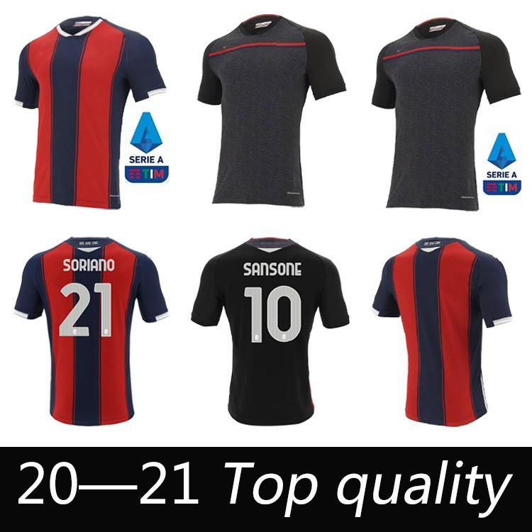 2020 2021 New Bologna FC Soccer Jersey Maglie Da Calcio Sansone Santander Orsolini Tomiyasu Skov Olsen Soriano Футбол футбол Униформа