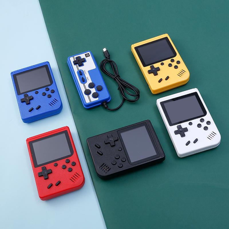 المحمولة 400in1 لعبة لاعب يده الرجعية 8 بت مزدوجة اللاعبين 3.0 بوصة لون lcd ألعاب الفيديو وحدة التحكم