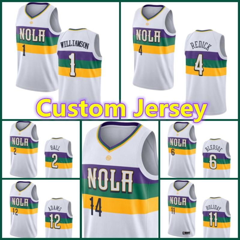 New Jersey Orleans Jersey Pelican Custom Zion 1 Williamson Lonzo 2 Ball Brandon 14 Ingram Jrue Josh Holiday Hart JJ 4 Redick Basketball