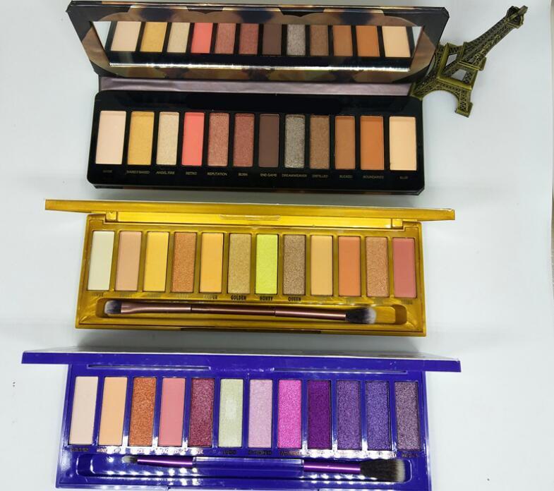 최저 가격의 새로운 메이크업 12 색 믹스 누드 히트 체리 재 장전 된 꿀 Eyeshadow / Eyeshadow 팔레트