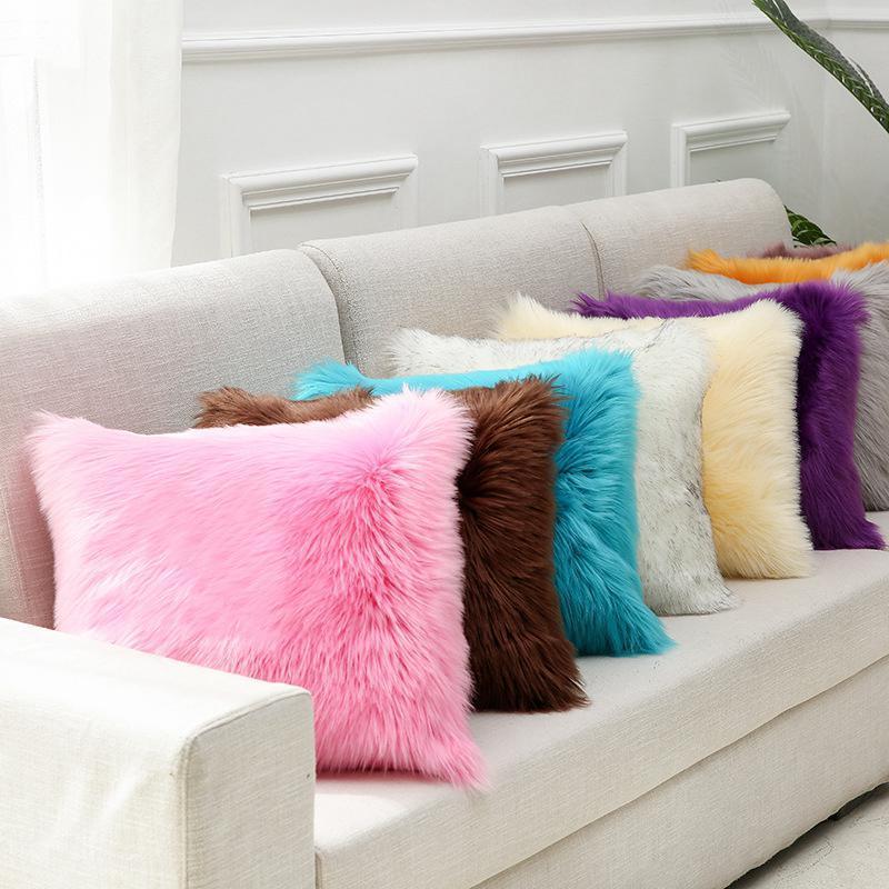 Plüschkissenbezug pelzige Nachahmung Kaschmire weiche hause komfortable kissenbezug wohnzimmer sofa haushalt kissenbezug dwf3147