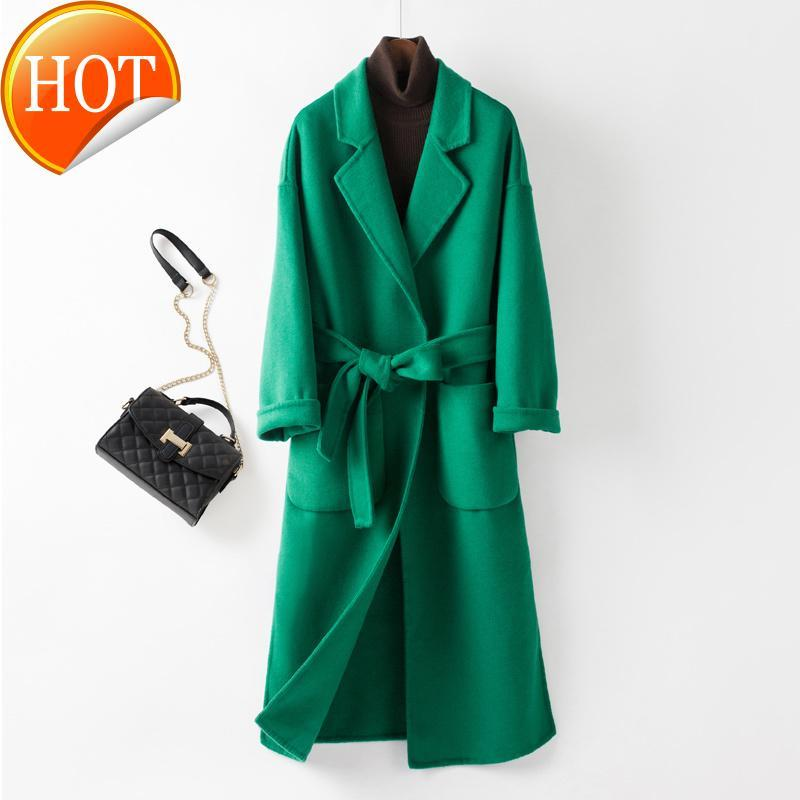Мужская шерстяная смесь корейского свободного пальто женские 2021 осенние шерстяные