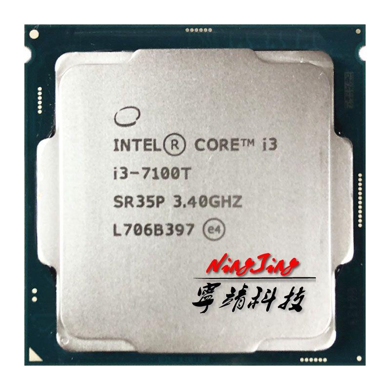 Intel Core I3-7100T I3 7100T 3,4 GHz Dual-Core Quad-Thread Processor CPU 3M 35W LGA 1151