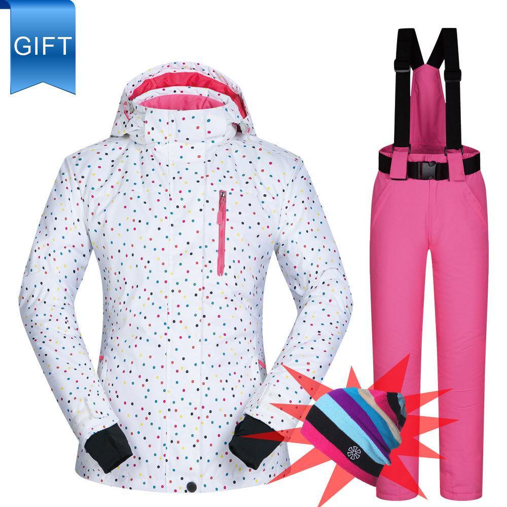 Костюм женские лыжные бренды открытый BDD снежный костюм набор ветрозащитные водонепроницаемые зимние брюки и куртки горы сноуборд женщины куртка