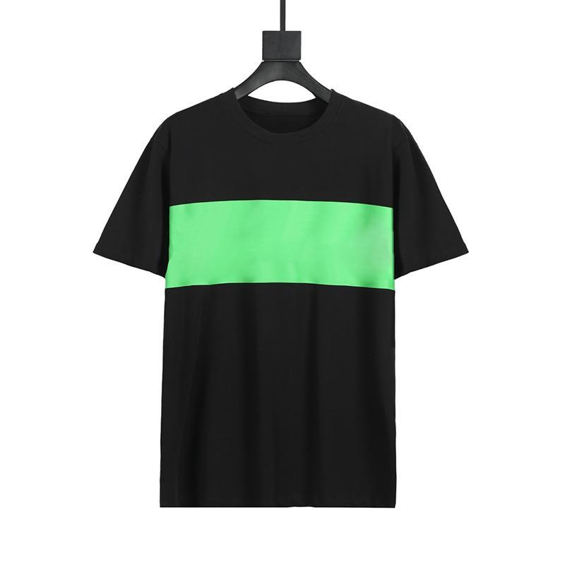 Moda uomo Stampa a strisce T Shirt di alta qualità Uomini Hip Hop T Shirt uomo e donna Summer Casual Manica Corta taglia S-XXL