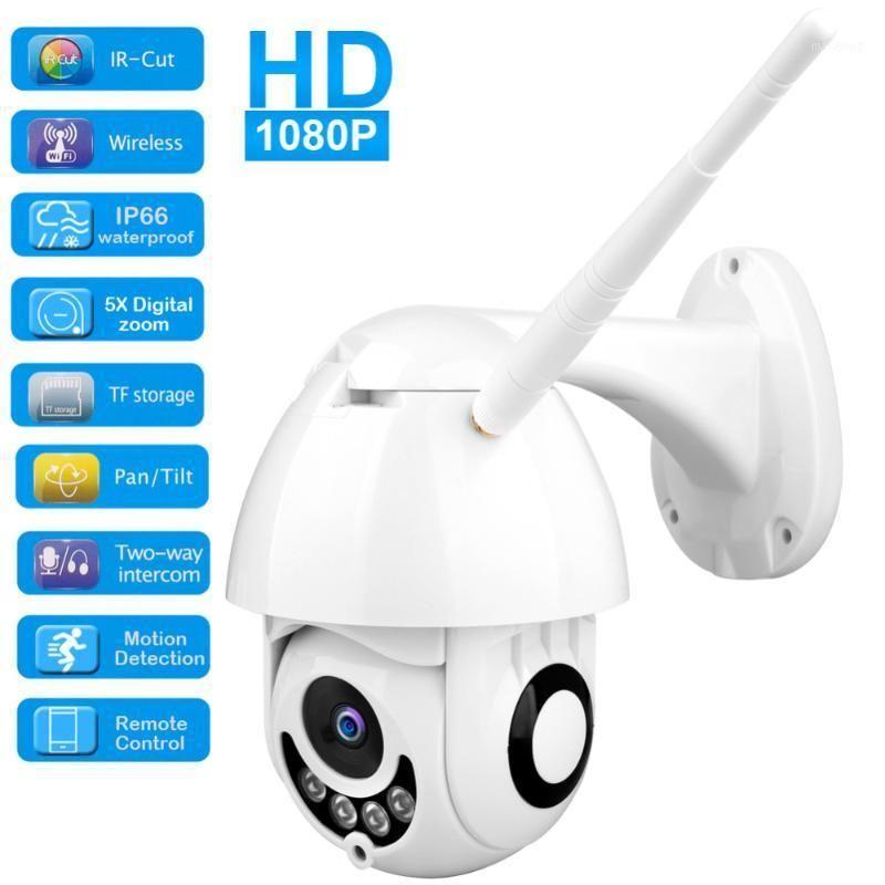 1080p Caméra IP WiFi Sans fil Sans Fil de suivi automatique PTZ Vitesse Caméra Surveillance de la Sécurité de la CCTV en plein air SURVEILLANCE EMPANCHEPONDALE
