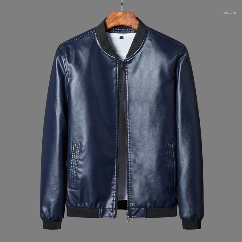 Herbst Winter Herren Ledermantel Korean Slim Fit Leder Jacken Plus Größe 8XL Mode Lässige Outwear Für Mannjacke Motorrad1