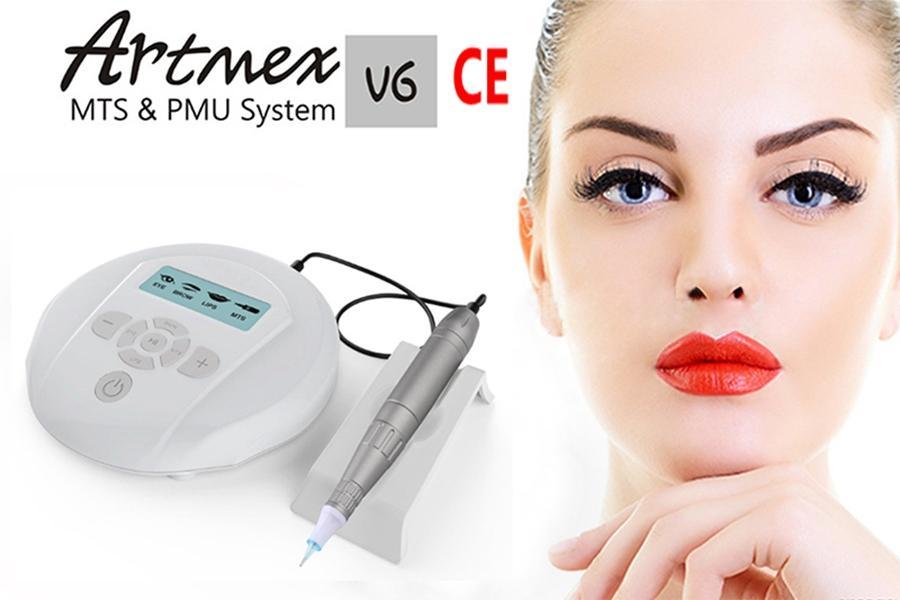 ArtMex V6 المهنية شبه الدائم ماكياج آلة الوشم أطقم MTS PMU نظام ديرما القلم الحاجب الشفة