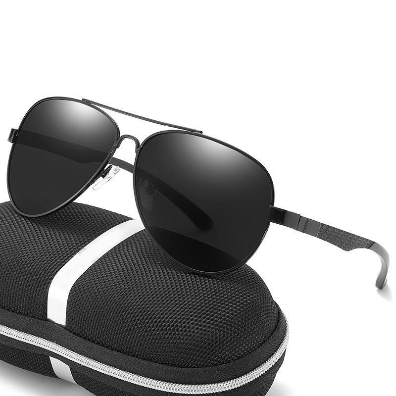 Солнцезащитные очки Пилот Алюминиевый Магниевый Магниевый Поляризованные Мужчины Merceme Модные Бренд Винтаж Солнцезащитные Очки для Рыболовных Очки 3043