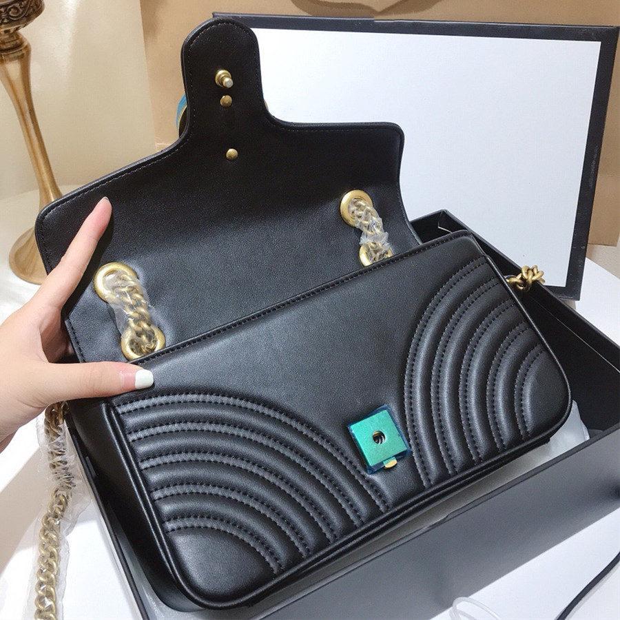 Luxurys Crossbody Frauen Clutch Tasche Schulter Geldbörse Qualität Designer Gglcd Kette Mode High Bags Marke Geldbörsen Rucksack MWJPM
