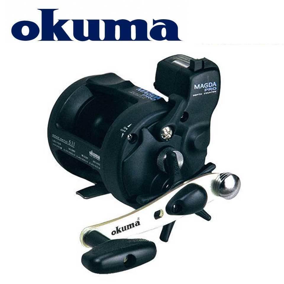 Okuma Pêche Reel Magda Linecounter DT MA-15DT-T MultiRolle Mer Baicast Baicasting Robe Q1123