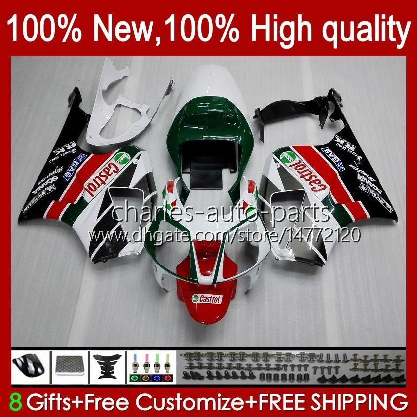 VTR1000 Verkleidung für Honda VTR-1000 RC51 Weiß Glossy 00 01 02 03 2004 2005 2006 98HC.1 VTR 1000 SP1 SP2 2000 2001 2002 2003 04 05 06 Körper
