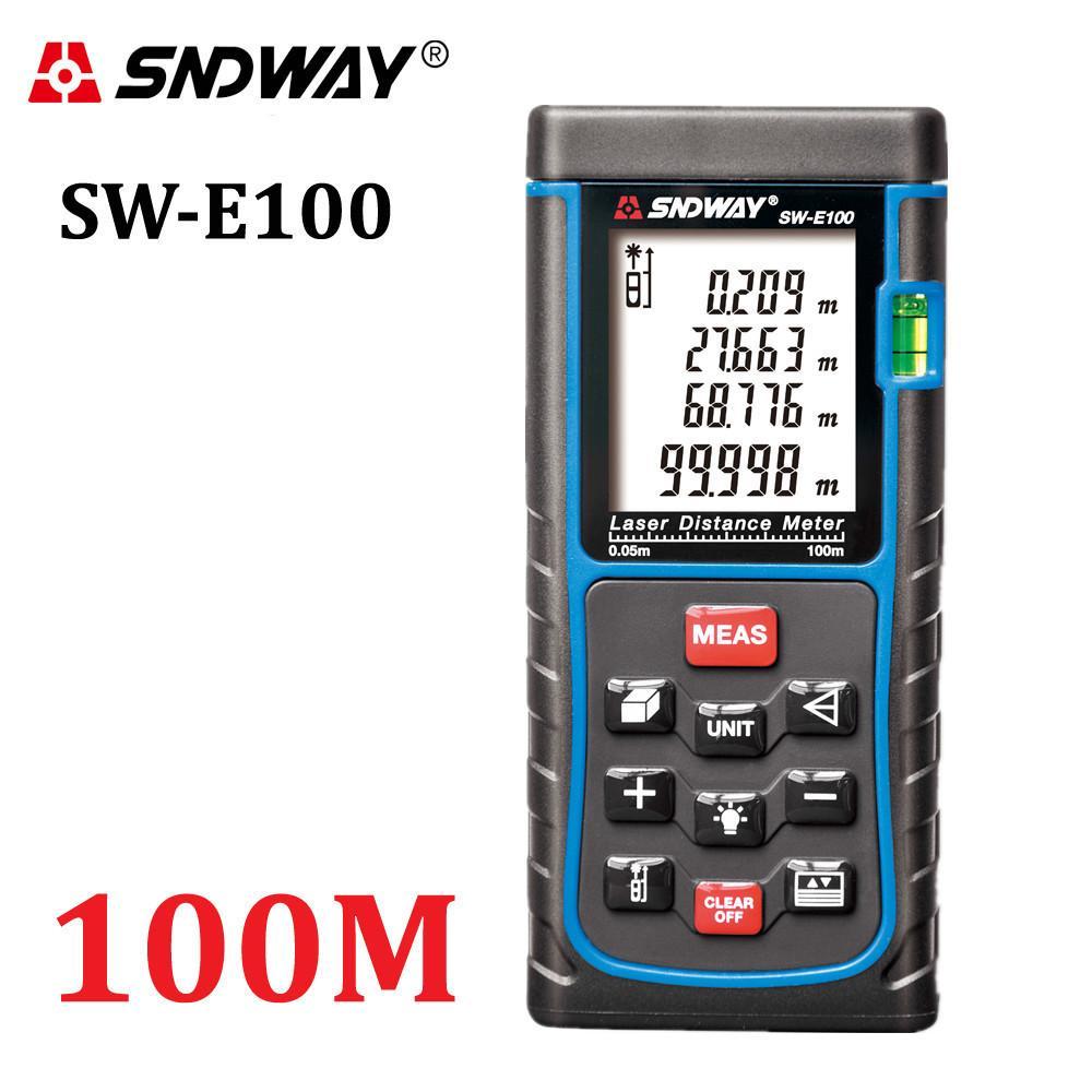 SNDWAY الرقمية الليزر المسافة متر trena شريط الليزر قياس تسيارات اختبار أداة 100M-80M-70M-60M-50M-40M الليزر Rangefinder T200603