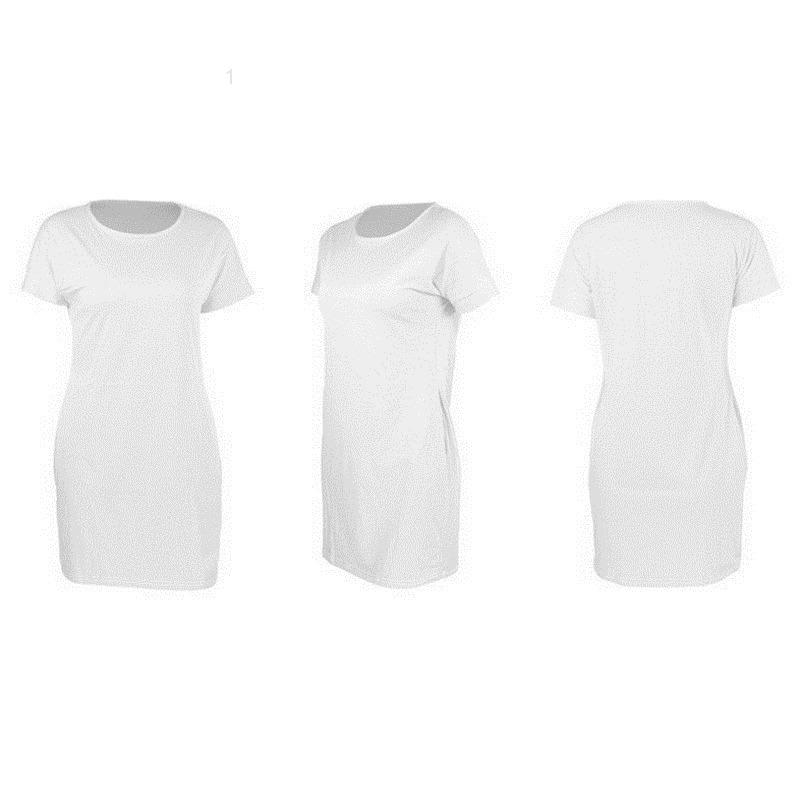 Das mulheres vestidos casuais moda vestido sexy rodada pescoço pulôver solto mulheres manga curta brief88f