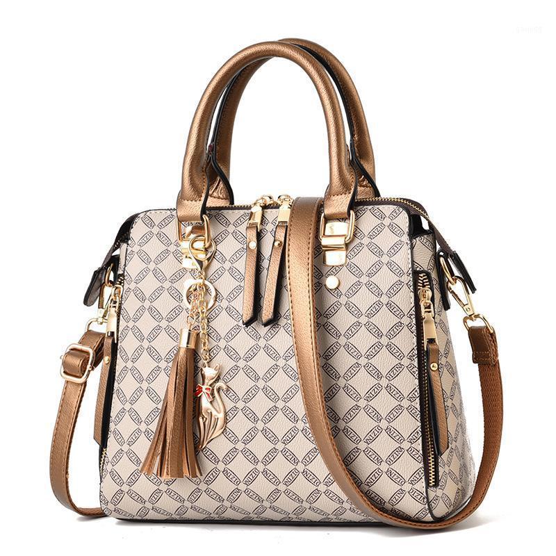 Püskül crossbody çanta kadınlar için 2020 kesesi bir ana femme bayanlar el çantası lüks çanta tasarımcı kapitone ekose çantalar1