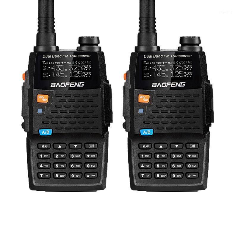 2PCS Baofeng Walkie Talkies UV-5R 4thGeneration Black Knight 136-174/400-520MHZ Professional FM Transceiver With h1