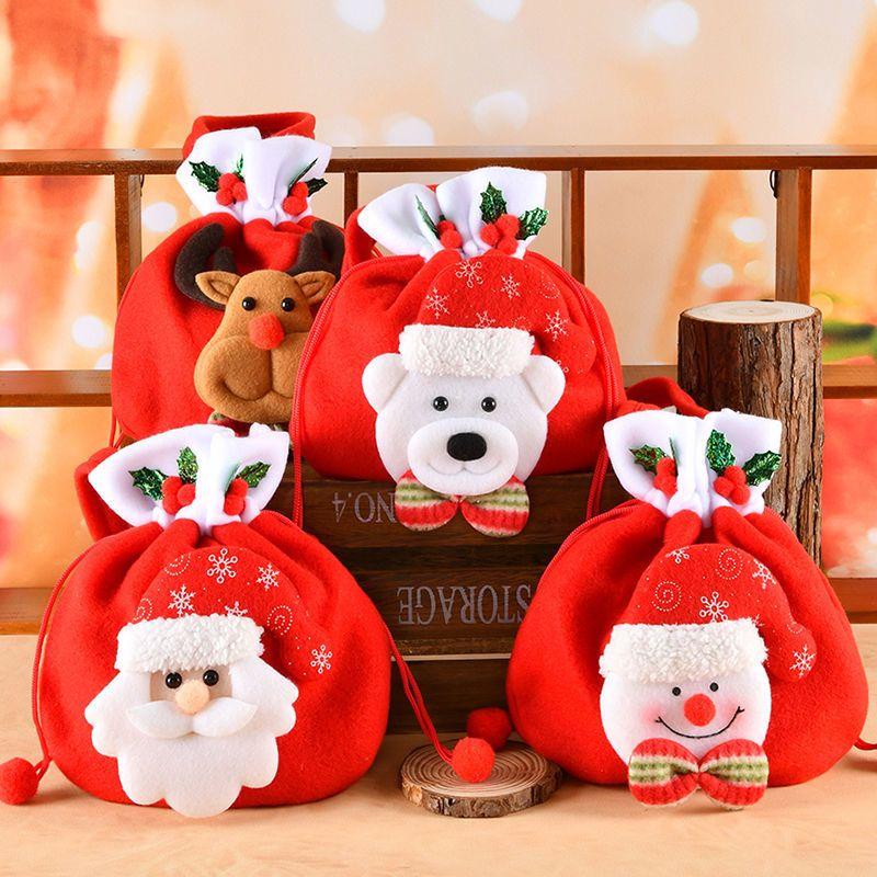 Noel süslemeleri mevcut küçük hediye Noel arifesi elma şeker ambalaj kutusu çanta çorap çocuk anaokulu için