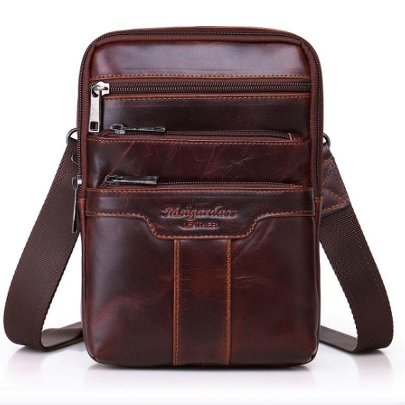 Многофункциональный классический слинг кожаный коровьем сундук натуральная кожаная сумка масло мужчины бренда Real Cross Body Messenger Wivix Wivix