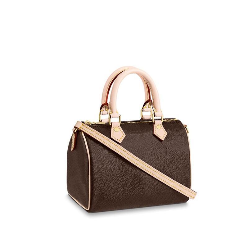 Umhängetasche Taschen Brieftasche Handtasche Tasche Schulter Handtasche Nano Speed Da02 Geldbörsen Taschen Crossbody Nano Frauen Rucksack Mini Clutch Leder QQP Ahwr